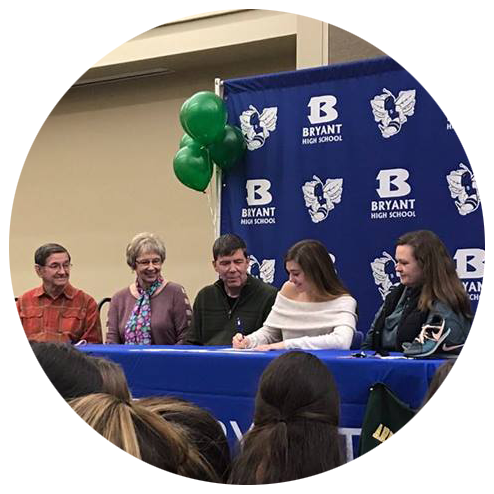 Abbie on Signing Day